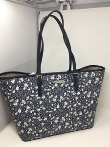 01b7652e7a7f NEW! Michael Kors Jet Set Travel Carryall Large Tote Navy Floral ...
