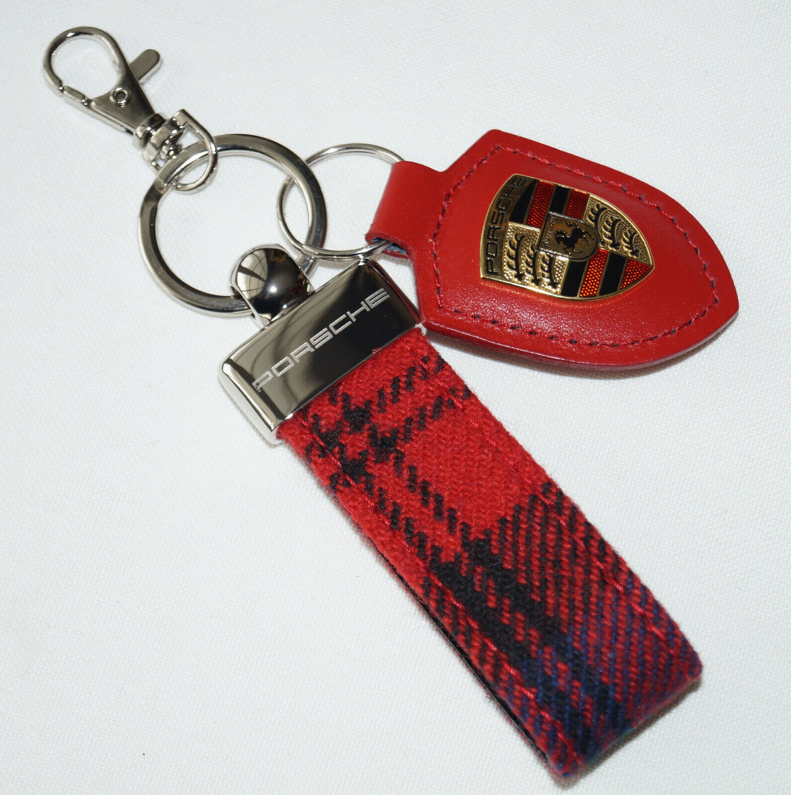 Details about Authentic Porsche Design Key Ring / Bag Charm Chain / Red /  Key Holder