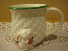 Cute Avon Products, Inc Porcelain Bunny 3-D White Coffee Cup Mug