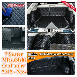 Custom-Made-Car-Boot-Cargo-Mats-Wheel-Arches-Cover-Liner-for-7-Seater-Outlander