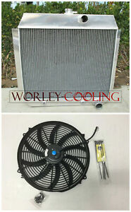 3-Core-Aluminum-Radiator-16-034-FAN-for-CHEVY-V8-W-COOLER-AT-1951-1952-1953-1954