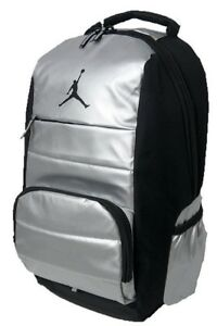 34db5e6760ec Nike Air Jordan All World Backpack Black Silver 9A1640 Laptop Bag ...