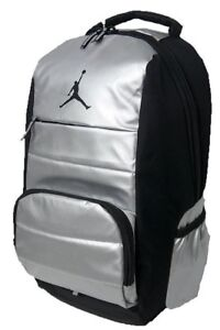 fef2ae8af7bc Nike Air Jordan All World Backpack Black Silver 9A1640 Laptop Bag ...