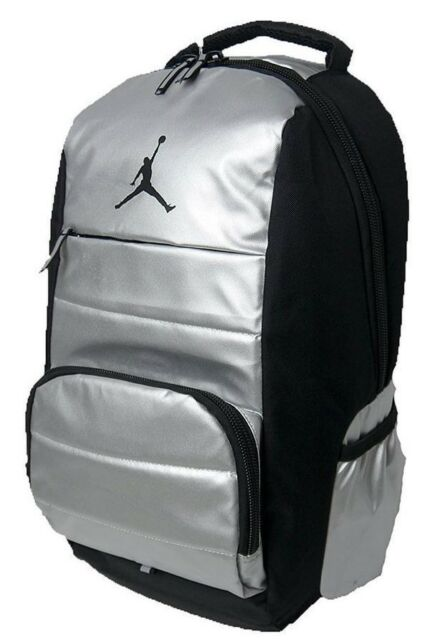 3ef47c4b78aa Nike Air Jordan All World Backpack Black Silver 9A1640 Laptop Bag RARE NEW   65