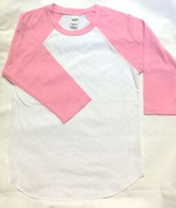 1d721f53 Kavio Girls Small (7/8) Jersey Raglan 3/4 Sleeve Shirt Super Soft ...
