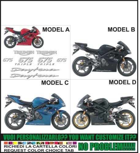 kit adesivi stickers compatibili  675 daytona triple 2008