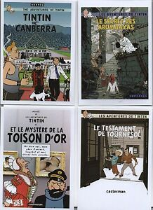 Carte-Postale-Tintin-Lot-de-8-cartes-les-aventures-imaginaires-de-Tintin-Serie-1