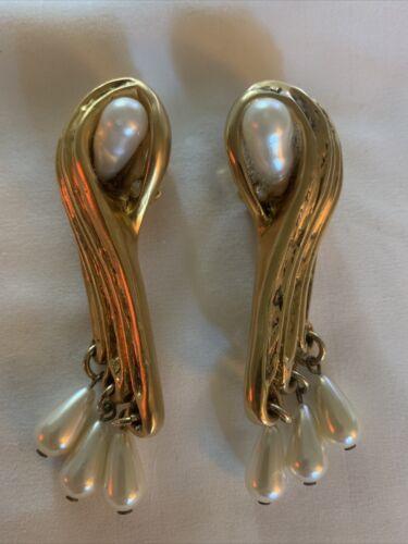 Claire Deve vintage earrings Jewelry Pearl