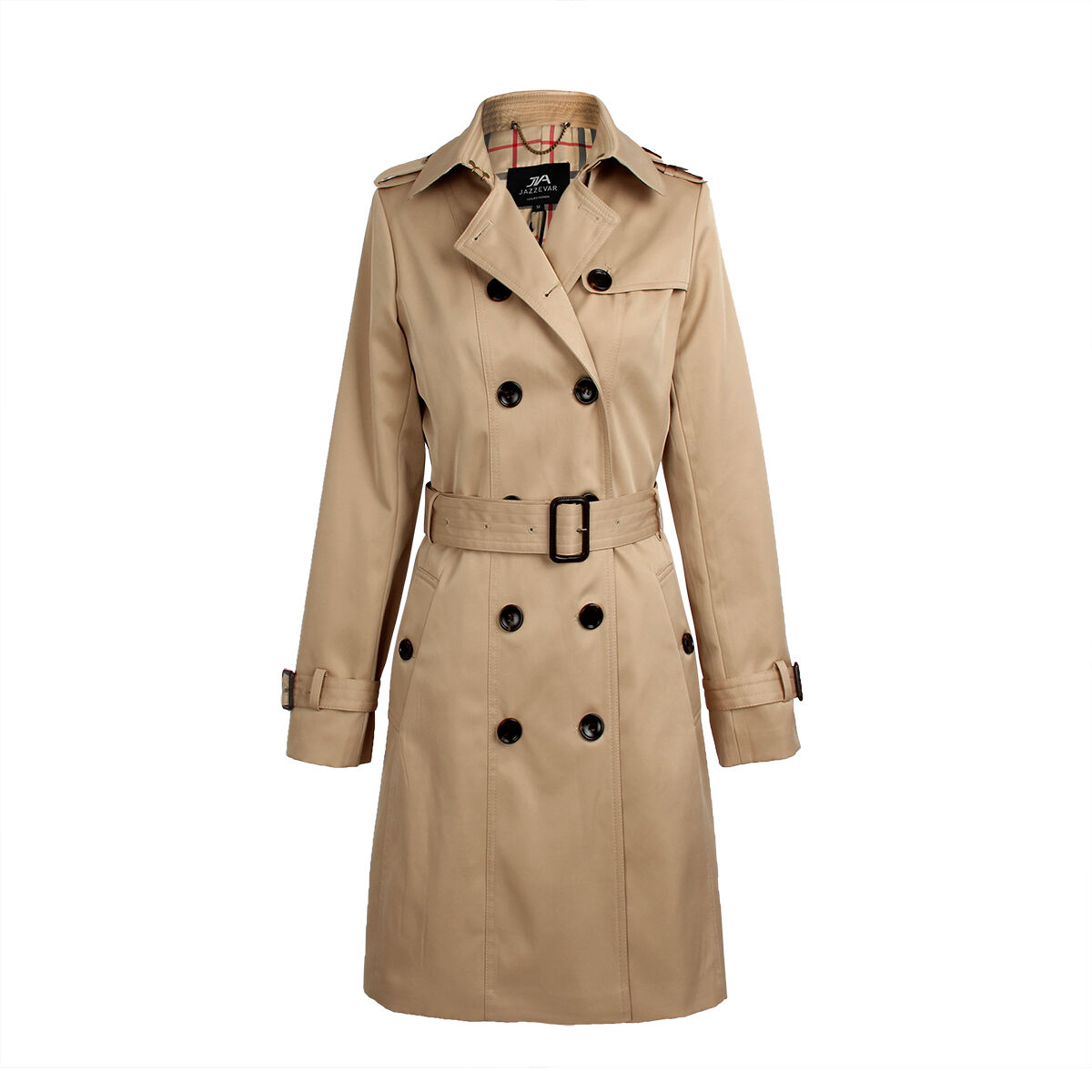 2018 Women's Double Breasted Trench Coat Business Slimmed Waterproof Raincoat