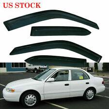 For 1998 2002 Toyota Corolla Chevrolet Window Visor Vent Rain Guards Deflectors Fits 2002 Toyota Corolla