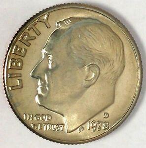 1972 S Roosevelt Dime 10c Gem Proof CN-Clad Roll 50 US coins