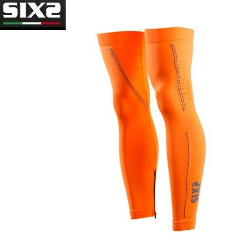 Leg warmers X MIX Bike BIKE SIXS orange FLUO 100% made in  GAMI
