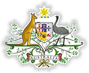 Details About Australian Australia Coat Of Arms Sticker Bumper Decal Car Bike Aufkleber Auto