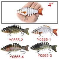 Multi-jointed Bass Fishing Lure Crank Bait Swimbait Life-like Shad Minnow T7M6
