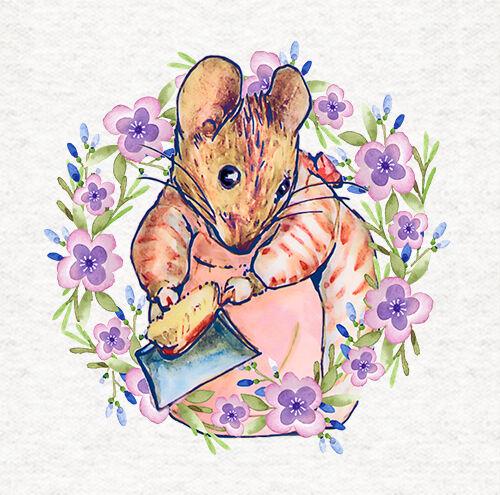 Peter rabbit mrs Tittlemouse//tissu coussin//craft//quilting//panneau