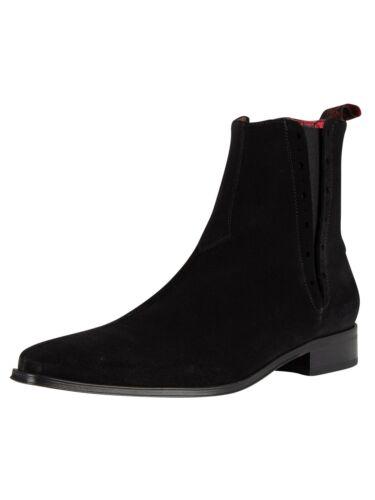 Jeffery West Men/'s Suede Boots Black
