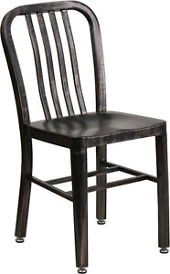 Mid-Century-Black-Antiqued-Gold-Navy-Dining-Chair-Cafe-Restaurant-In-Outdoor