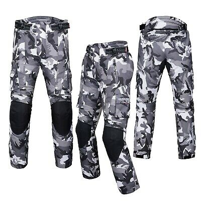 NORMAN Motorbike Motorcycle Waterproof Cordura Textile Trousers Pants Armours Reflector Black//Green Hivis