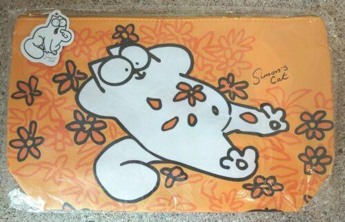 32 x 19cms Fabric Lined//Zipped Base 6.5cms wide Simon/'s Cat Orange WashBag