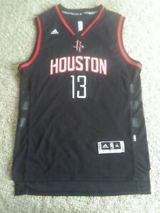 buy popular 154ed 182ba Details about Adidas James Harden Black Houston Rockets Alternate Swingman  Jersey (Size XL)