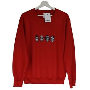 Details about Actual Fact RIP Day of the Dead Rappers ODB,Tupac,Easy E,BIG  Red Sweatshirt