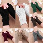 Women's Fingerless Fur Winter Warm Wrist Knitted Wool Mitten Gloves Wholesale