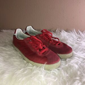 fe389e37 Details about Asics ONITSUKA Tiger Mend Red Suede Lace up Low Top Sneakers  Sz 8 Made in Japan