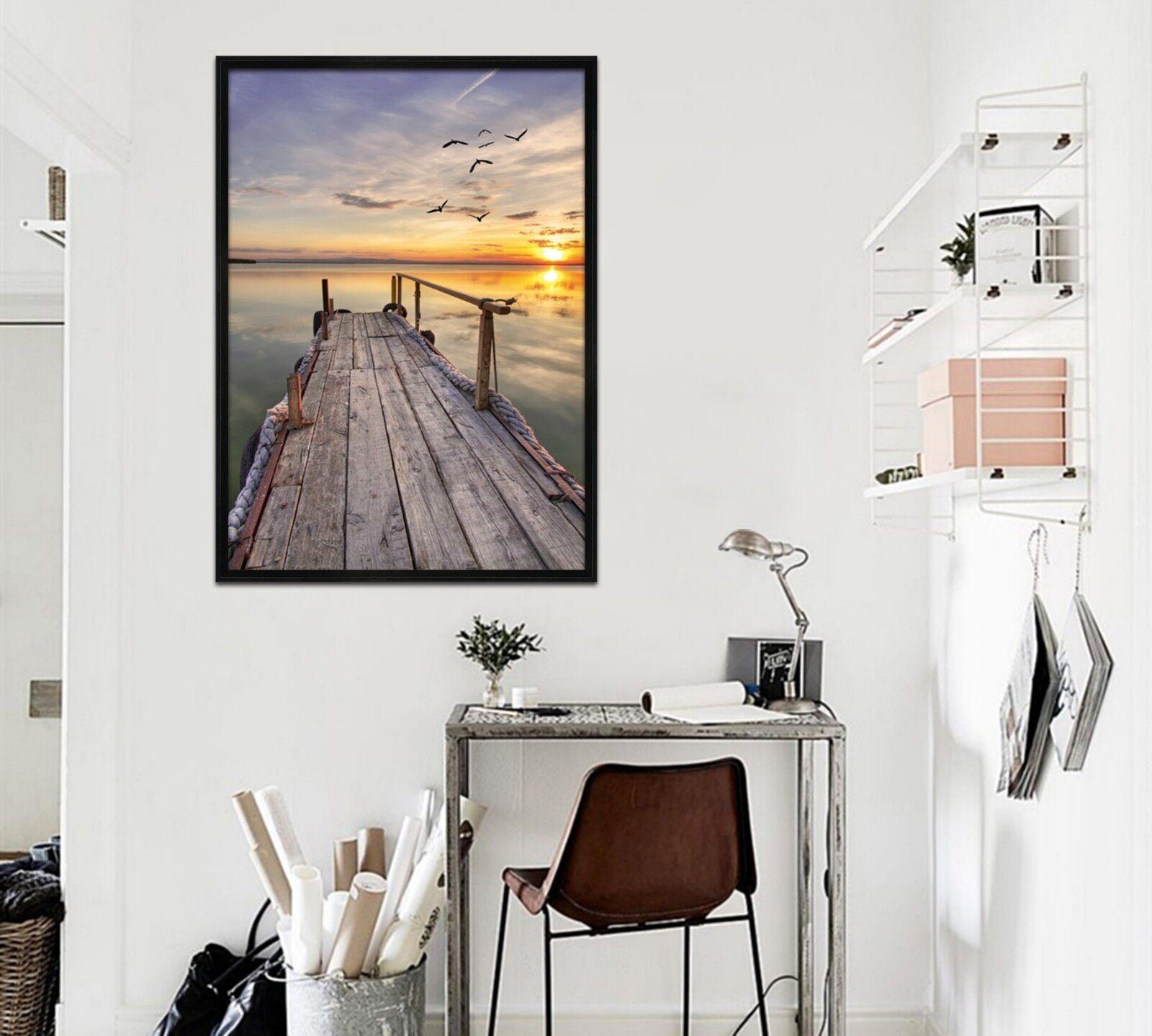 3D Sunset Seascape 511 Framed Poster Home Decor Print Painting Art AJ AU