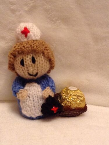 Tejer patrón-GET WELL PRONTO ENFERMERA Chocolate tapa se ajusta Ferrero Rocher Choc