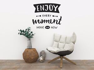 Enjoy Every Moment Kitchen Bedroom Home Quote Wall Art Vinyl Fun Quirky Ebay