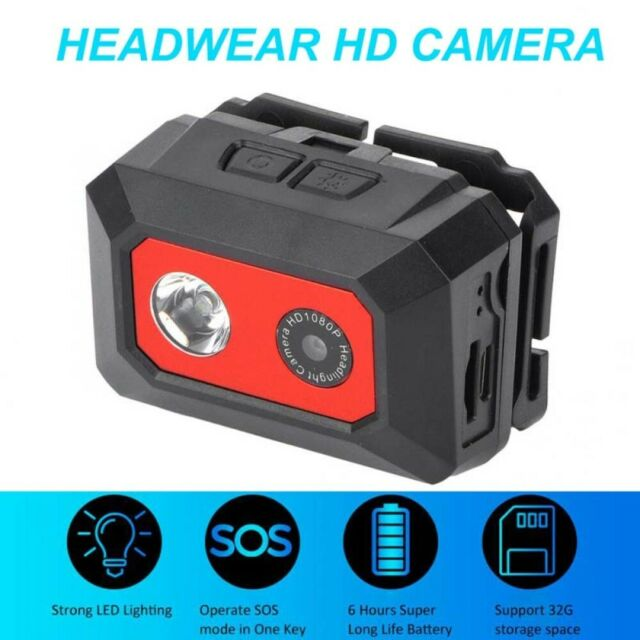 F18 Head-mounted Camera 1080P Night Vision Sports Outdoor Micro Camera Camcorder
