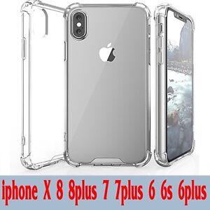 Handy-Huelle-fuer-Apple-iPhone-Silikon-Bumper-Schutz-Huelle-Case-Transparent