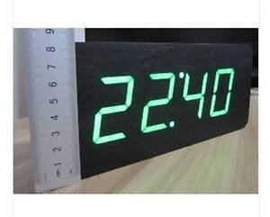 Image Is Loading Table Clocks Wood LED Alarm Clock Large Number