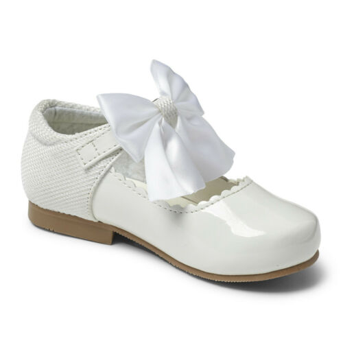 Girls Mary Jane Bow Shoes Style Kristy Sevva Rollybaby Italian Design Occasion