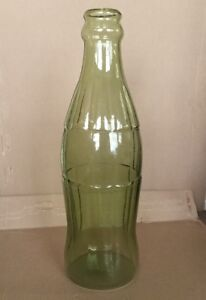 20-inches-tall-Coca-Cola-Style-Contour-bottle-type-glass-piggy-bank-RARE-BLANK