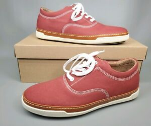 CANVAS Oxford Sneakers 9 D Red 70189
