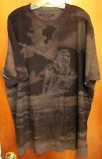 RAW CLOTHING biker T shirt Trail of Tears 2XL camouflage tee XXL Native American