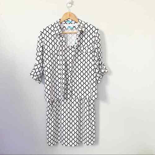 J. McLaughlin Catalina Cloth Dress Set Print size