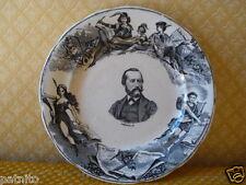 """Assiette faience fine porcelaine H.B Choisy le Roi."""" HERALD"""". Antique plate"""