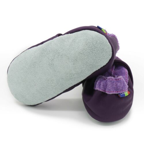 carozoo purple butterfly flower 3-4y soft sole leather baby shoes