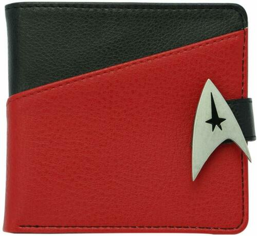 OFFICIAL STAR TREK COMMANDER PREMIUM QUALITY BI FOLD WALLET NEW IN BOX BNWT ABY