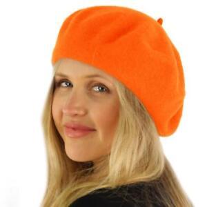 Classic Winter 100% Wool Warm French Art Basque Beret Tam Beanie Hat ... 6b2ef3c6e3b1