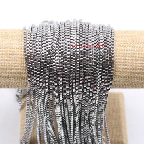 Lot 12meter Anti-Tarnish 2.4mm Box Chain Stainless Steel jewelry finding Chain