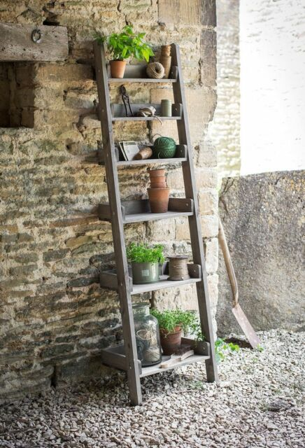 ** DAMAGED** GARDEN TRADING ALDSWORTH RUSTIC SHELF LADDER WALL UNIT