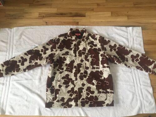 Supreme Velvet Chore Coat Cow Print Jacket Large A