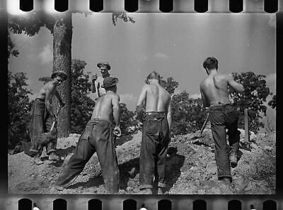 012 CCC Civilian Conservation Corps Lassen N F Camp Boys Studio Photo 8x12