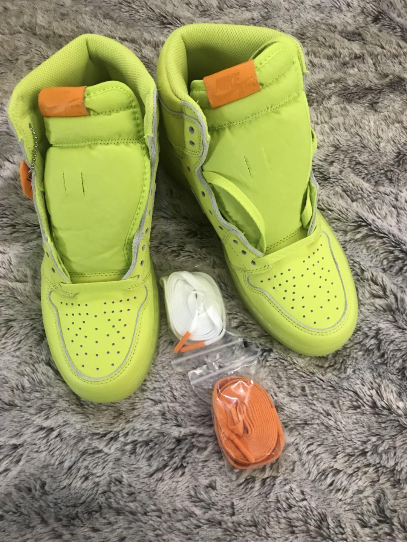 58911618f5 Nike Jordan Retro HI OG G8RD Cyber Lemon Lime AJ5997-345 Size 8.5 1 Air  nrkqhl1948-Athletic Shoes