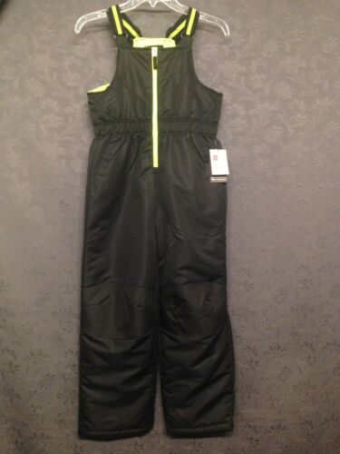 NEW NWT Boy/'s Black /& Neon Ski Snow Bib Skiing Pants Overalls XL XG 14 16