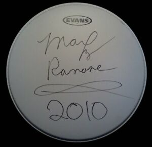 THE-RAMONES-MARKY-RAMONE-SIGNED-DRUMHEAD-AUTOGRAPH-DH1