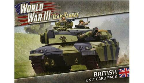 39 cards British Unit Card Pack Battlefront Miniatures WWIII